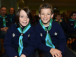 Stamullen Beaver Scouts Peter Phelan and Jack Scanlon at their Investiture in the village. Photo:Colin Bell/pressphotos.ie