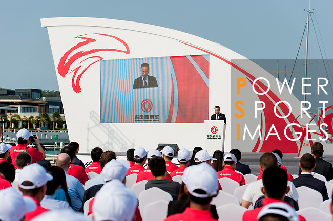 Guests attend the Dongfeng Race Team Official Launch Ceremony & Christening ahead the 2014/15 Volvo Ocean Race on February 26, 2014 in Sanya, China. Photo by Victor Fraile / Power Sport Images