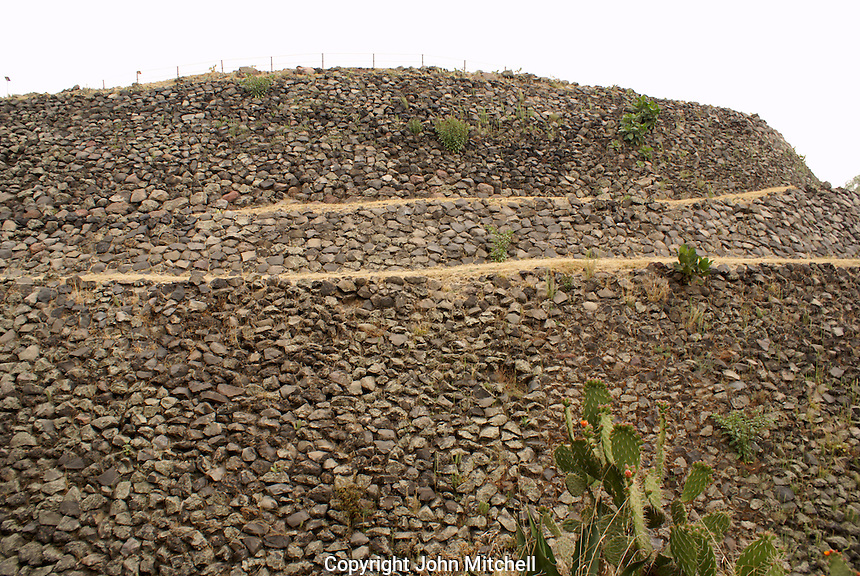 The pre-Columbian pyramid at the Cuicuilco archaeological site, Mexico City