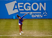 June 12th 2017,  Nottingham, England; WTA Aegon Nottingham Open Tennis Tournament day3; Laura Robson of Great Britain serves to Julia Boserup of the USA at the Aegon Open Nottingham