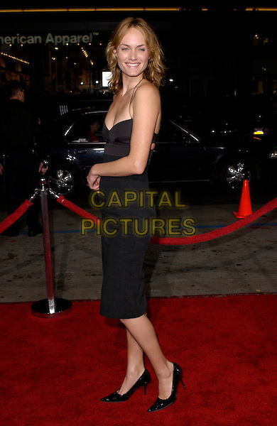 """AMBER VALLETTA.Columbia Pictures' World Premiere of """"Guess Who"""" held at The Grauman's Chinese Theatre in Hollywood, California .March 13th, 2005.full length black dress .www.capitalpictures.com.sales@capitalpictures.com.Supplied By Capital PIctures"""