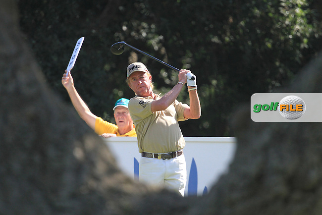 Miguel Angel Jimenez (ESP) during the final day of the  Andalucía Masters at Club de Golf Valderrama, Sotogrande, Spain. .Picture Fran Caffrey www.golffile.ie