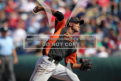 Baltimore Orioles Adrian Rosario #68 during a spring training game vs. the Philadelphia Phillies at Bright House Field in Clearwater, Florida;  March 8, 2011.  Philadelphia defeated Baltimore 4-3.  Photo By Mike Janes/Four Seam Images