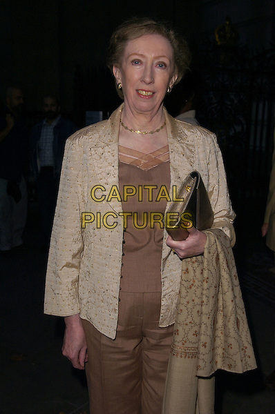 "MARGARET BECKETT.arrivals at book launch of ""Confessions of a Serial Womaniser"" by Zerbanoo Gifford, at the National Portrait Gallery.20th September London, England.half length .CAP/CAN.©Can Nguyen/Capital Pictures"