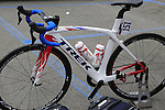 Edwidge Pitel's (FRA) S.C. Michela Fanini team Trek bike before the start of the Ladies 2017 Strade Bianche running 127km from Siena to Siena, Tuscany, Italy 4th March 2017.<br /> Picture: Eoin Clarke   Newsfile<br /> <br /> <br /> All photos usage must carry mandatory copyright credit (&copy; Newsfile   Eoin Clarke)