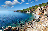 Chalikiada is the most popular beach in Agistri island, Greece