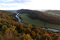 20/10/12  ..Looking north over Herefordshire as mist hangs in the Wye Valley at sunrise this morning...Looking like a fairytale world, the autumn colours, in the Wye Valley viewed from Symonds Yat Rock, near Ross on Wye, are thought to be some of the most spectacular in Britain. The River Wye runs close to the Welsh border here as it crosses the English counties of Herefordshire and Gloucestershire...All Rights Reserved - F Stop Press.  www.fstoppress.com. Tel: +44 (0)1335 300098.Copyrighted Image. Fees charged will reflect previously agreed terms or space rates for individual publications, states or country.