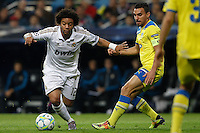 04.03.2012 SPAIN - UEFA Champions League Quarter-Final 2nd  match played between Real Madrid CF vs Apoel FC (5-2) at Santiago Bernabeu stadium. The picture show Marcelo Vieira (Brazilian defender of Real Madrid)
