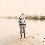 Fisherman along the river bank in Farakka, India 2013.