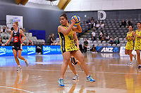 Central Manawa&rsquo;s Salate Taufa in action during the Beko Netball League - Central Manawa v Hellers Mainland at Fly Palmy Arena, Palmerston North, New Zealand on Sunday 10 March 2019. <br /> Photo by Masanori Udagawa. <br /> www.photowellington.photoshelter.com