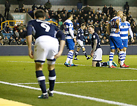 Aiden O'Brien looks back apologetically after missing a chance laid on by Lee Gregory of Millwall during the Sky Bet Championship match between Millwall and Queens Park Rangers at The Den, London, England on 29 December 2017. Photo by Carlton Myrie / PRiME Media Images.