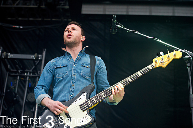 Rhydian Dafydd of The Joy Formidable performs during the The Beale Street Music Festival in Memphis, Tennessee.