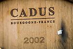 Amador Vintner's Behind the Cellar Door event..C. G. Di Arie Vineyard and Winery..Barrels and wine barrel branding
