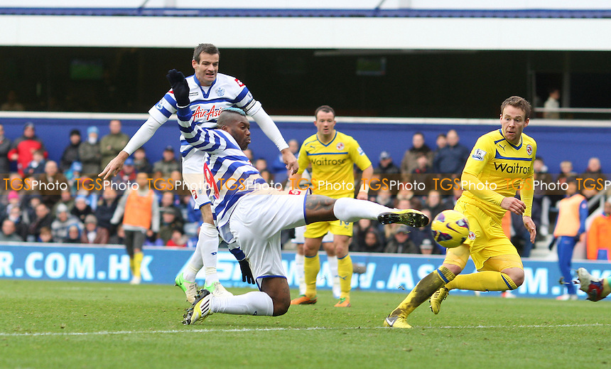 Djibril Cisse scores QPR's goal - Queens Park Rangers vs Reading, Barclays Premier League at Loftus Road, London - 04/11/12 - MANDATORY CREDIT: Rob Newell/TGSPHOTO - Self billing applies where appropriate - 0845 094 6026 - contact@tgsphoto.co.uk - NO UNPAID USE.