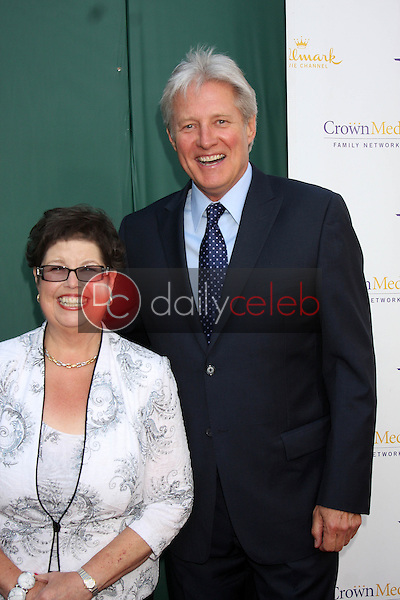 LOS ANGELES - JUL 8:  Debbie Macomber, Bruce Boxleitner at the Crown Media Networks July 2014 TCA Party at the Private Estate on July 8, 2014 in Beverly Hills, CA
