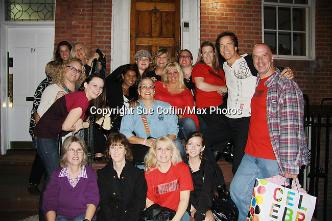 "One Life To Live and Guiding Light Kim Zimmer sings ""Desperado"", I Will Stand By You and Pride & Joy and poses with Bradley Cole and fans at the 7th Annual Rock Show For Charity hosted by Kristen Alderson and Gina Tognoni and Bradley Cole to benefit American Red Cross - disaster relief efforts in Japan on October 8, 2011 at the SoHo Playhouse, New York City, New York. (Photo by Sue Coflin/Max Photos)"