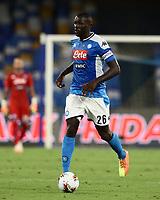 12th July 2020; Stadio San Paolo, Naples, Campania, Italy; Serie A Football, Napoli versus AC Milan; Kalidou Koulibaly of Napoli
