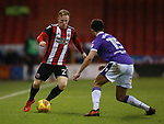 Mark Duffy of Sheffield Utd takes on Antonee Robinson of Bolton Wanderers during the Championship match at Bramall Lane Stadium, Sheffield. Picture date 30th December 2017. Picture credit should read: Simon Bellis/Sportimage