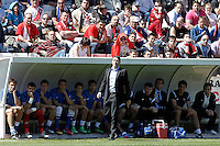 Real Sociedad's coach Phillipe Montanier during La Liga match.April 14,2013. (ALTERPHOTOS/Acero)
