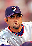 25 August 2007:  Washington Nationals pitcher Luis Ayala awaits the start of play against the Colorado Rockies at Coors Field in Denver, Colorado. The Rockies defeated the Nationals 5-1 in the second game of their 3-game series...Mandatory Photo Credit: Ed Wolfstein Photo