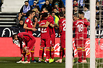 Getafe CF's players celebrate goal during La Liga match between CD Leganes and Getafe CF at Butarque Stadium in Leganes, Spain. December 07, 2018. (ALTERPHOTOS/A. Perez Meca)