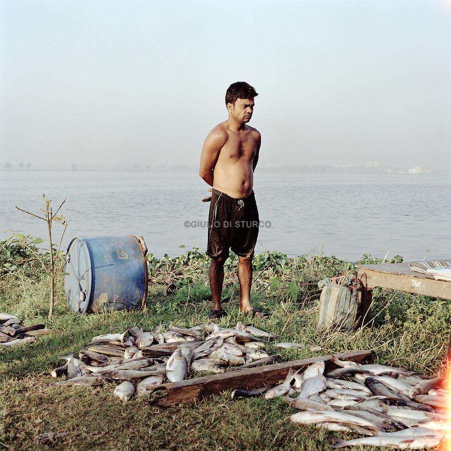 fish farm outside Kolkata