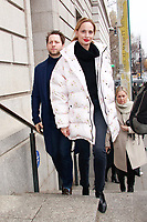NEW YORK, NY - FEBRUARY 11: Lauren Santo Domingo and Derek Blasberg  seen at Carolina Herrera NYFW 2019 on February 11, 2019 in New York City. Credit: DC/MediaPunch