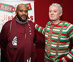 """Ruben Studdard and Clay Aiken attend the Opening Night After Party for """"Ruben & Clay's First Annual Christmas Show"""" on December 11, 2018 at The Copacabana Times Square in New York City."""