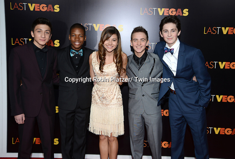 "actress Olivia Struck and young cast of the movie  attends the New York Premiere of ""Last Vegas"" on October 29, 2013 at the Ziegfeld Theatre in New York City."