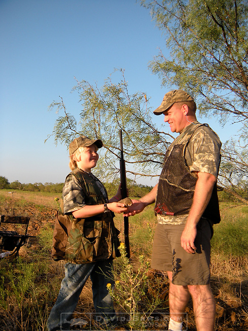 DOVE HUNT.Paloma Palooza 2010 Archer City..Chuck and Matthew Aris hunting south of Breckenridge opening weekend