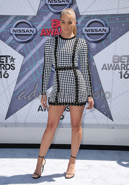 26 June 2016 - Los Angeles. Jasmine Sanders. Arrivals for the 2016 BET Awards held at the Microsoft Theater. Photo Credit: Birdie Thompson/AdMedia