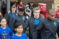 SAN JOSE, CA - JULY 06: Jackson Yueill #14 during a Major League Soccer (MLS) match between the San Jose Earthquakes and Real Salt Lake on July 06, 2019 at Avaya Stadium in San Jose, California.