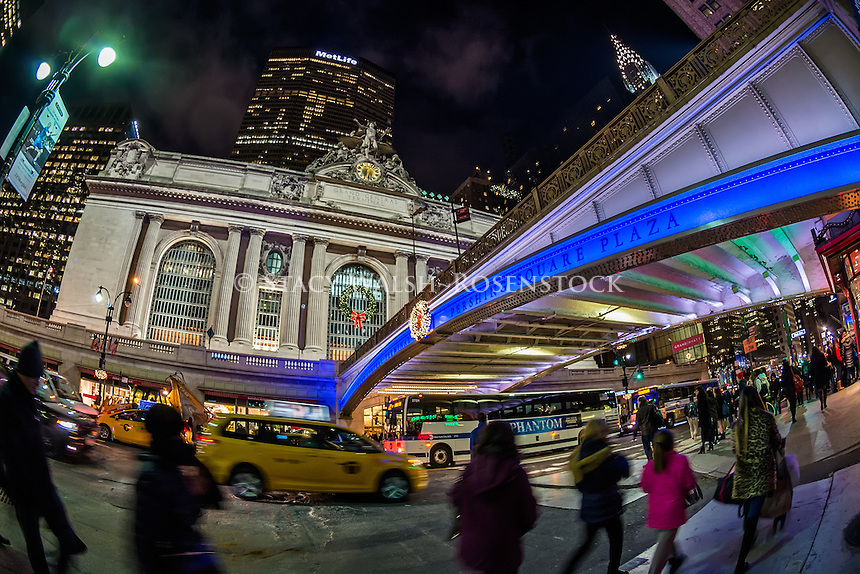 New York City, USA Christmastime at Grand Central Terminal