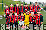 The Asdee U14's who played Iveragh United in Cahersiveen on Saturday pictured front l-r; Liam Bryant, Conor Twomey, Barry O'Neill, Cathal Doran, Cody Enright, Scott Godson, back l-r; Gavan Stack, Shay Doran, Rory Carmody, Brian Murphy, Robert O'Brien, Bernard O'Callaghan & Pa Carmody.