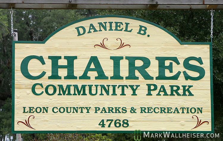 The newly renamed Daniel B. Chaires Community Park next to Chaires School outside of Tallahassee, Florida June 1, 2007   (Mark Wallheiser/TallahasseeStock.com)