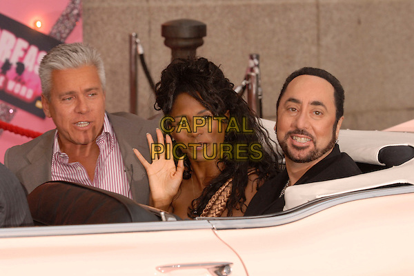 "DAVID IAN, SINITTA & DAVID GEST.""Grease Is The Word"" photocall, Bloomsbury Ballroom, Victoria House, London, UK..March 28th, 2007.headshot portrait beard facial hair hand palm .CAP/FIN.©Steve Finn/Capital Pictures"