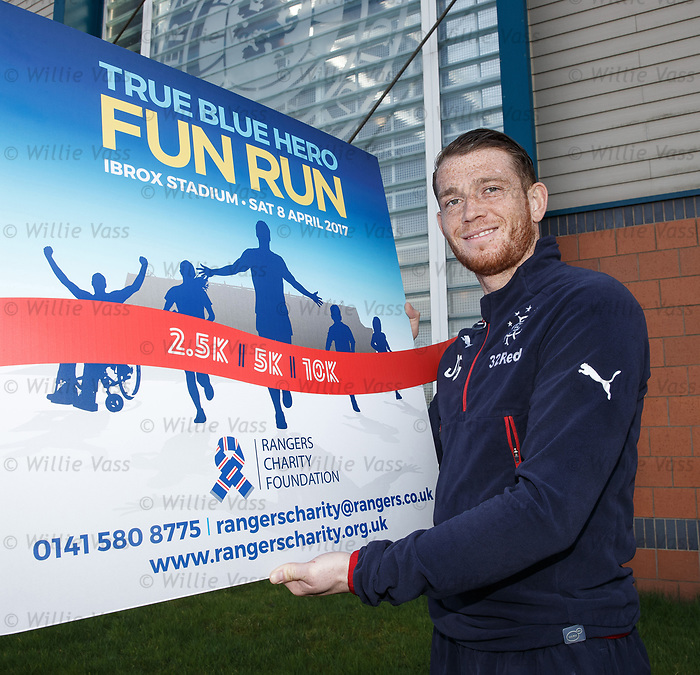 Joe Garner promotes the True Blue Hero fun run