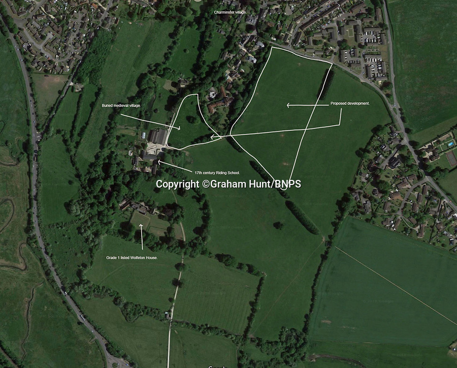 BNPS.co.uk (01202 558833)<br /> Pic: GrahamHunt/BNPS<br /> <br /> The estate was to be built in this field 200 yds form Wolfeton House<br /> <br /> Owners of Historic Wolfeton House in Dorset have won they're fight to remain far from the madding crowd.<br /> <br /> The elderly aristocrats yesterday repulsed a bid to build homes overlooking they're Elizabethan pile on the outskirts of Dorchester in Dorset, after local villagers and Julian Fellowes backed their campaign to keep the developers at bay.<br /> <br /> Downton Abbey creator Lord Julian Fellowes was one of about 100 people who objected to the proposal for 120 houses on land just 200 yards from Wolfeton House near Dorchester, Dorset.<br /> <br /> The house was owned for 400 years by the Trenchard family, whose name provided the inspiration for the main character in Hardy's classic 1886 novel The Mayor of Casterbridge.