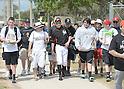 Ichiro Suzuki (Marlins),<br /> FEBRUARY 25, 2015 - MLB :<br /> Ichiro Suzuki of the Miami Marlins talks with fans during the Miami Marlins spring training camp in Jupiter, Florida, United States. (Photo by AFLO)