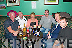 Moyvane/Clounmacon Ladies Quiz : Attending the quiz night held at The Kingdaom Bar in Listowel on Friday night last in aid of Moyvane/Clounmacon ladies GAA club were Sean Gleeson, Michael O'Donoghue, Julie Gleeson, Mike Moloney, Christy Halpin & Jimmy O'Connor.