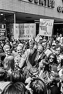 10 Aug 1972, Manchester, New Hampshire, USA --- South Dakota Democrat Senator George S. McGovern campaigning for presidential election against the incumbent Richard Nixon in New Hampshire, a previous Nixon strong-hold. --- Image by © JP Laffont