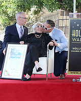 LOS ANGELES - OCT 28:  LA Councilman Mitch O'Farrell, Lina Wertmuller, LA Councilman Joe Buscaino at the Lina Wertmuller Star Ceremony on the Hollywood Walk of Fame on October 28, 2019 in Los Angeles, CA