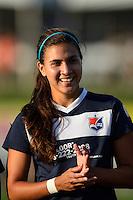 Sky Blue FC midfielder Nayeli Rangel (7). Sky Blue FC defeated the Washington Spirit 1-0 during a National Women's Soccer League (NWSL) match at Yurcak Field in Piscataway, NJ, on August 3, 2013.
