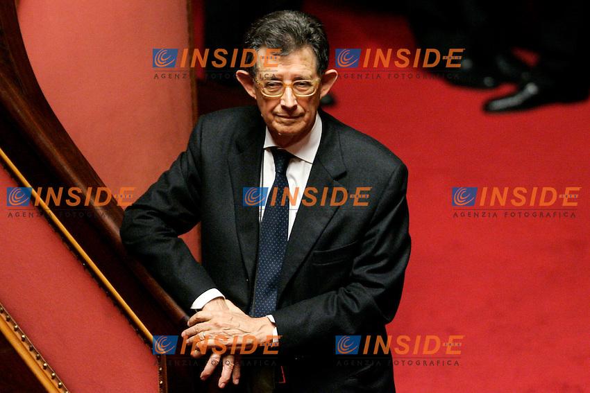 PIERO GIARDA.Roma 05/12/2011 SENATO. Intervento del Premier sulla Manovra Economica..Photo Samantha Zucchi Insidefoto