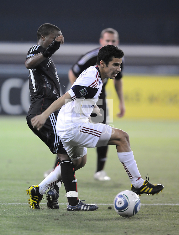 Real Salt Lake midfielder Tony Beltran (2) shields the ball against DC United midfielder Thabiso Khumalo (17)    DC United defeated Real Salt Lake 2-1 to advance to the round of 16 of the  U.S. Open Cup at RFK Stadium, Wednesday  June 2  2010.