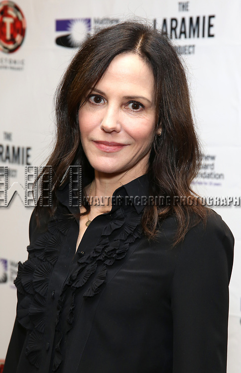 """Mary Louise Parker attends the cast photo call for """"Laramie: A Legacy""""  on September 24, 2018 at The Gerald W. Lynch Theater at John Jay College in New York City."""