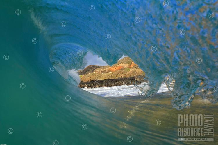 Breaking wave at Sandy Beach, O'ahu