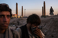 HERAT, AFGHANISTAN - OCTOBER 05, 2013: Drug users linger in an area they use to smoke up in, in Herat, Afghanistan. <br /> <br /> CREDIT: Daniel Berehulak for the New York Times