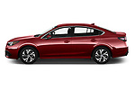 Car Driver side profile view of a 2020 Subaru Legacy Premium 4 Door Sedan Side View
