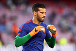 UEFA Champions League 2017/2018.<br /> Quarter-finals 1st leg.<br /> FC Barcelona vs AS Roma: 4-1.<br /> Alisson Becker.